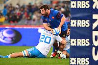 Rabah SLIMANI - 15.03.2015 - Rugby - Italie / France - Tournoi des VI Nations -Rome<br /> Photo : David Winter / Icon Sport