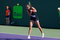 March 20, 2018 - Key Biscayne, FL, U.S. - KEY BISCAYNE, FL - MARCH 20: Kateryna Bondarenko (UKR) competes during the qualifying round of the 2018 Miami Open on March 20, 2018, at Tennis Center at Crandon Park in Key Biscayne, FL. (Photo by Aaron Gilbert/Icon Sportswire) (Credit Image: © Aaron Gilbert/Icon SMI via ZUMA Press)