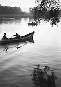 C011-37_Tom Hutchins_Boating in the late afternoon, Peihei Park, Peking, China 1956 A3.tif