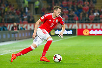 Football - 2018 World Cup - Qualifying 2016 / 2017 - Group D: Wales vs Moldova<br /> <br /> Chris Gunter attacks      …  at the Cardiff City Stadium<br /> <br /> pic colorsport/winston bynorth2