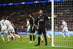 1 November 2017 -  UEFA Champions League (Group H) - Tottenham Hotspur v Real Madrid - Sergio Ramos reacts after Real Madrid fail to convert a string of chances - Photo: Marc Atkins/Offside