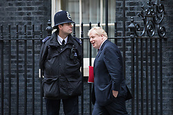 © Licensed to London News Pictures. 10/01/2017. London, UK. Foreign Secretary Boris Johnson leaves Downing Street after the weekly Cabinet meeting. Photo credit: Rob Pinney/LNP