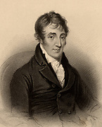 James Grahame (1765-1811) Scottish poet and clergyman.  Engraving from 'A Biographical Dictionary of Eminent Scotsmen' by Thomas Thomson (1870).