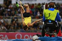 Capriola di Esultanza di Gianmarco Tamberi ITA High Jump Men, celebration   <br /> Roma 02-06-2016 Stadio Olimpico.<br /> IAAF Diamond League 2016<br /> Atletica Legera <br /> Golden Gala Meeting - Track and Field Athletics Meeting<br /> Foto Cesare Purini / Insidefoto
