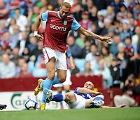 Aston Villa/Birmingham City Premiership 25.04.10<br /> Photo: Tim Parker Fotosports International<br /> John Carew Villa & Stephen Carr Birmingham