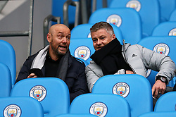 Manchester United caretaker manager Ole Gunnar Solskjaer watching on during the FA Cup fourth round match at Etihad Stadium, Manchester.