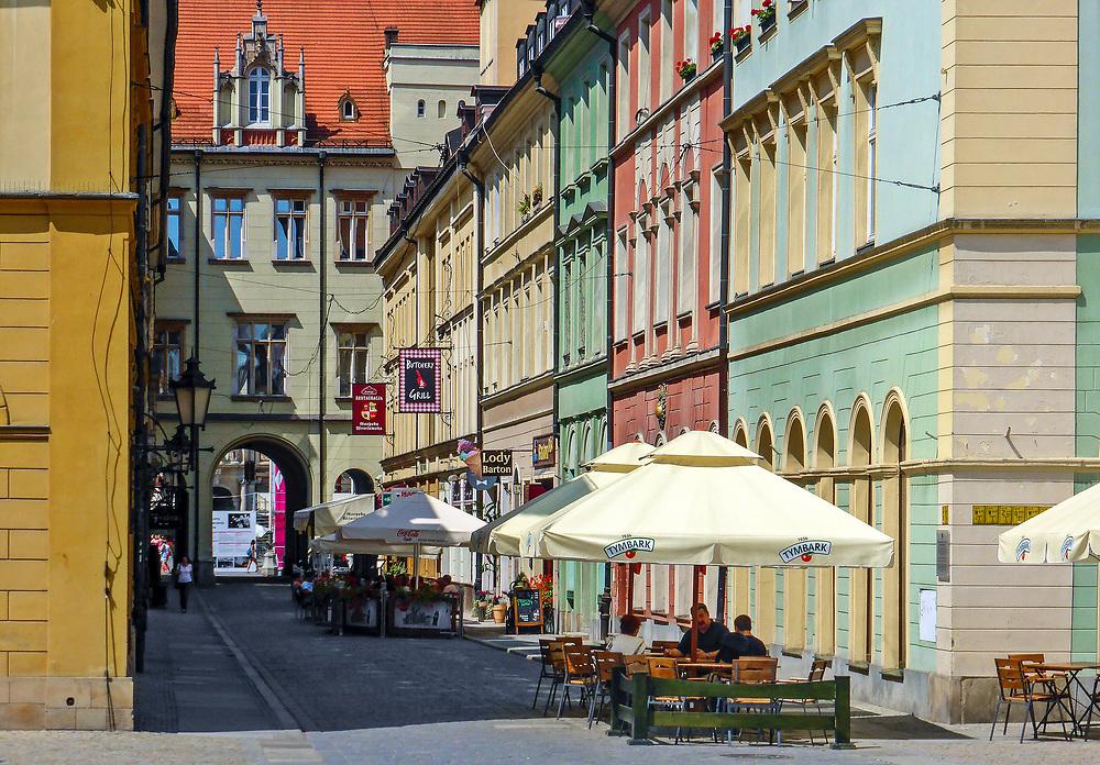 Centrum miasta we Wrocławiu, Polska<br /> Centre in Wrocław, Poland