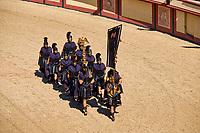 France, Vendée (85), Les Epesses, Parc du Puy du Fou, spectacle dans les arènes, le Signe du Triomphe // France, Vendée, Les Epesses, Parc du Puy du Fou