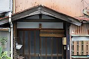 sliding door style entrance of an old house Japan