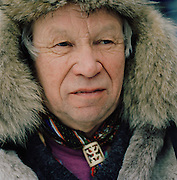 Portrait of a Sami man in Lapland, Sweden
