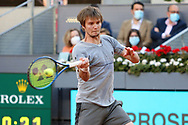 Alexander Bublik of Kazakhstan during the Mutua Madrid Open 2021, Masters 1000 tennis tournament on May 7, 2021 at La Caja Magica in Madrid, Spain - Photo Laurent Lairys / ProSportsImages / DPPI