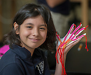 Sixth grade students work on science projects at the Baylor College of Medicine Academy at Ryan, September 17, 2014.