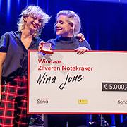 NLD/Amsterdam/20180917 - Uitreiking de Gouden Notenkraker 2018, Nina June wint de Zilveren Notenkraker