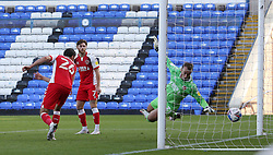 Alex Cairns of Fleetwood Town cant stop Peterborough United from scoring the winning goal - Mandatory by-line: Joe Dent/JMP - 19/09/2020 - FOOTBALL - Weston Homes Stadium - Peterborough, England - Peterborough United v Fleetwood Town - Sky Bet League One