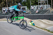 #36 (LE NAGARD Axel) FRA during practice at Round 5 of the 2018 UCI BMX Superscross World Cup in Zolder, Belgium