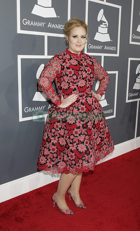 Adele arrives at the 55th Annual Grammy Awards on February 10, 2013 in Los Angeles, California. CBS/Francis Specker /Landov