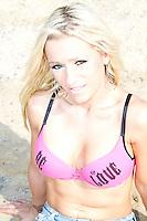 Kelly Van Hoorde Topless Beach Photos