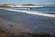 Coastal village La Caleta de Famara, Lanzarote, Canary islands, Spain