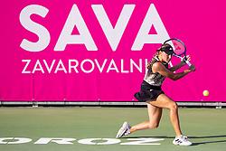 PORTOROZ, SLOVENIA - SEPTEMBER 14: Kaja Juvan of Slovenia competes during the 1st Round of WTA 250 Zavarovalnica Sava Portoroz at SRC Marina, on September 14, 2021 in Portoroz / Portorose, Slovenia. Photo by Matic Klansek Velej / Sportida