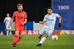 December 7, 2017 - San Sebastian, Basque Country, Spain - Christian Noboa of Zenit duels for the ball with Illarramendi of Real Sociedad during the UEFA Europa League Group L football match between Real Sociedad and Zenit at the Anoeta Stadium, on 7 December 2017 in San Sebastian, Spain  (Credit Image: © Jose Ignacio Unanue/NurPhoto via ZUMA Press)