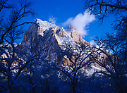 The Sentinel following a winter storm, Zion National Park, Utah.