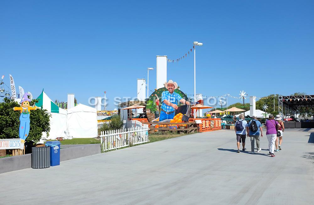 People Entering the OC Fair at the Orange Grove Exhibit