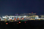 EasyJet and British airways aircraft are parked up in Gatwick Airport in London on Monday, July 27, 2020. After the British Government said that anybody travelling to Spain from Britain will now need to self-isolate for 14 days when they return, airlines connecting Britain to Spain have issued guidance to anybody with flights booked to Spain - and says that it will be continuing to operate, despite the new restrictions. (VXP Photo/ Vudi Xhymshiti)