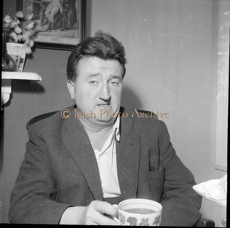 10/08/1960<br /> 08/10/1960<br /> 10 August 1960<br /> Portrait of writer Brendan Behan.