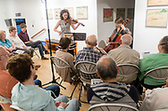 Livingston Manor, New York - The Weekend of Chamber Music held a concert at The Catskill Art Society on July 27, 2017. The concert featured Nurit Pacht and Andrew Waggoner on violin and Caroline Stinson on cello.