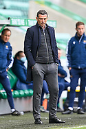 Hibernian FC manager, Jack Ross looks concerned during the SPFL Premiership match between Hibernian and St Johnstone at Easter Road Stadium, Edinburgh, Scotland on 1 May 2021.