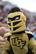Dec 1, 2012; Tulsa, Ok, USA; The University of Central Florida Knights mascot walks during a game against the Tulsa Hurricanes at Skelly Field at H.A. Chapman Stadium. Tulsa defeated UCF 33-27 in overtime to win the CUSA Championship. Mandatory Credit: Beth Hall-USA TODAY Sports