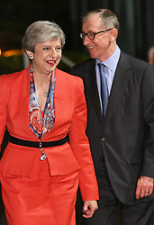 Prime Minister Theresa May and her husband Philip arrive at the Magnet Leisure Centre in Maidenhead, where counting is taking place for the General Election.