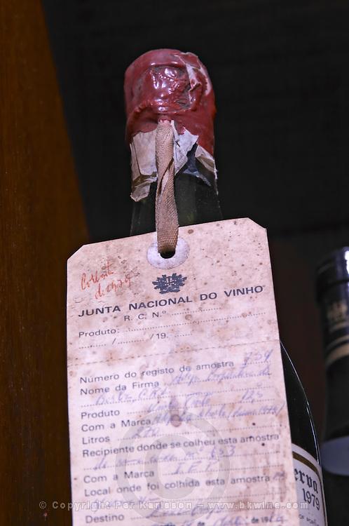 old bottle with wax seal reserva 1979 adega cooperativa de borba alentejo portugal