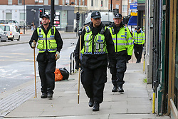 © Licensed to London News Pictures. 07/11/2018. London, UK. British Transport Police search team arrives near Finchley Road and Frognal overground station. A man in his teens was stabbed on Billy Fury Way off Lithos Road in West Hampstead on Tuesday evening. Photo credit: Dinendra Haria/LNP