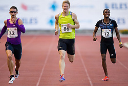 Pavel Maslak of Czech Republic, Luka Janezic of Slovenia and Pako Seribe of Botsvana compete at 400m Men during 20th European Athletics Classic Meeting in Honour of Miners' Day in Velenje on July 1, 2015 in Stadium Velenje, Slovenia. Photo by Vid Ponikvar / Sportida