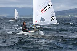 Day 4 NeilPryde Laser National Championships 2014 held at Largs Sailing Club, Scotland from the 10th-17th August.<br /> <br /> 198552, Ryan GLYNN<br /> <br /> Image Credit Marc Turner