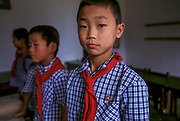 Schoolchildren in class, Pyongyang
