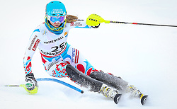16.02.2013, Planai, Schladming, AUT, FIS Weltmeisterschaften Ski Alpin, Slalom, Damen, 1. Durchgang, im Bild Anne-Sophie Barthet (FRA) // Anne-Sophie Barthet of France in action during 1st run of the Womens Slalom at the FIS Ski World Championships 2013 at the Planai Course, Schladming, Austria on 2013/02/16. EXPA Pictures © 2013, PhotoCredit: EXPA/ Johann Groder