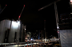 A general view of construction work outside Wembley Stadium