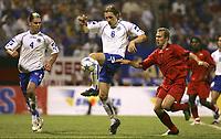 Fotball. 3. september 2005, Bosnia-Herzegovina - Belgia<br /> <br /> <br /> EMIR SPAHIC - SASA PAPAC - THOMAS BUFFEL<br /> Foto: Eric Lalmand, Digitalsport<br /> Norway only