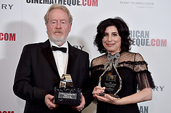 Ridley Scott and Sue Kroll attend the 30th Annual American Cinematheque Awards Gala at The Beverly Hilton Hotel on October 14, 2016 in Beverly Hills, California. Photo by Lionel Hahn/AbacaUsa.com