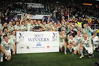 Rugby Union - 2017 Varsity Match - Oxford University vs. Cambridge University<br /> <br /> Cambridge team celebrate, at Twickenham.<br /> <br /> COLORSPORT/ANDREW COWIE