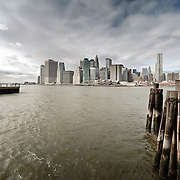 New York skyline panorama seen from Brooklyn