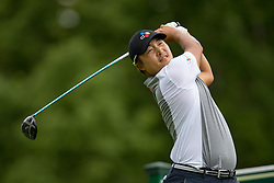 May 30, 2019 - Dublin, OH, U.S. - DUBLIN, OH - MAY 30: Kyoung-Hoon Lee of Korea plays his shot from the 18th tee during the Memorial Tournament presented by Nationwide at Muirfield Village Golf Club on May 30, 2018 in Dublin, Ohio. (Photo by Adam Lacy/Icon Sportswire) (Credit Image: © Adam Lacy/Icon SMI via ZUMA Press)