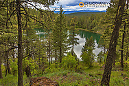 Dollar Lake in the Stillwater State Forest near Whitefish, Montana, USA