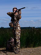 Hunter ready to hunt turkey in the Willamette Valley of Oregon.