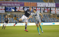 Blackburn Rovers' Stewart Downing fails to convert a cross under pressure from Millwall's Alex Pearce<br /> <br /> Photographer Rob Newell/CameraSport<br /> <br /> The EFL Sky Bet Championship - Millwall v Blackburn Rovers - Tuesday July 14th 2020 - The Den - London<br /> <br /> World Copyright © 2020 CameraSport. All rights reserved. 43 Linden Ave. Countesthorpe. Leicester. England. LE8 5PG - Tel: +44 (0) 116 277 4147 - admin@camerasport.com - www.camerasport.com