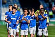 Portsmouth players applaud the fans at full time during the EFL Sky Bet League 2 match between Portsmouth and Cambridge United at Fratton Park, Portsmouth, England on 22 April 2017. Photo by Adam Rivers.