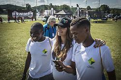 July 19, 2017 - Gothenburg, Sweden - Princess Sofia..***EXCLUSIVE***  IngÃ¥r ej i avtal..Gothia Cup, Project Playground FC from South Africa, Gothenburg, 2017-07-19..(c) Olof Ohlsson  GP   IBL....Göteborg Gothia Cup 2017 Prinsessan Sofia kom och tittade pÃ¥ Projekt Playground frÃ¥n Sydafrika (Credit Image: © IBL via ZUMA Press)