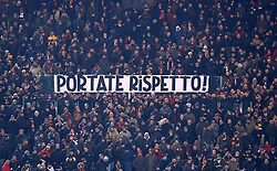 February 3, 2019 - Rome, Italy - AS Roma v AC Milan - Serie A.Roma's supporters banner against the team at Olimpico Stadium in Rome, Italy on February 3, 2018. (Credit Image: © Matteo Ciambelli/NurPhoto via ZUMA Press)